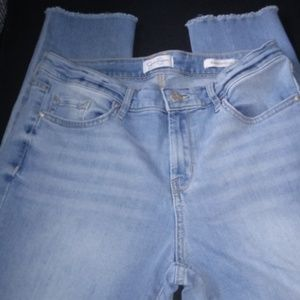 Jessica Simpson Relaxed Skinny Crop Jeans Raw 6/28